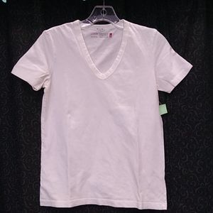 J. Crew V-neck Short Sleeve White Tee